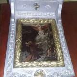ICOANA sculptata de mana artizanat bisericeasca in stil brancovenesc