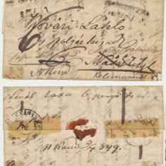 Austria Transilvania 1849 plic prefilatelic stampile rare Cluj Mures si Odorhei