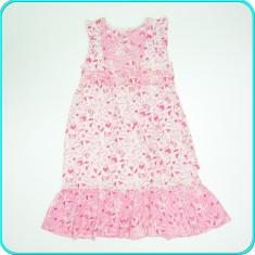 DE FIRMA → Rochita de vara, bumbac, calitate H&M → fete | 7 - 8 ani | 122-128 cm, Marime: Alta, Culoare: Roz