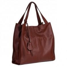 Brastini La Laura piele geanta pe umar ciocolata - Geanta Dama