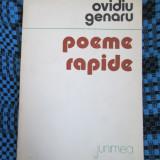 Ovidiu GENARU - POEME RAPIDE (prima editie - 1983) - Carte poezie