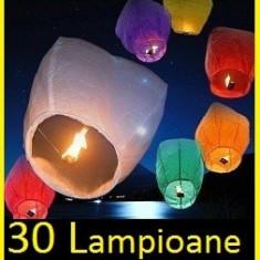 Lampioane/Lampion Zburatoare Diferite Culori 30 Buc