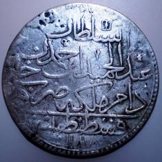E.125 TURCIA ABDUL HAMID I 2 ZOLOTA 1187/4/1777 BILLON/ARGINT? 27, 45g - Moneda Medievala, Europa
