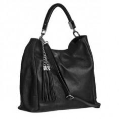 Brastini La Sara piele geanta pe umar neagra - Geanta Dama