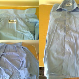 Set camasa barbat maneca lunga/scurta marime 39-40 M + set cravata, Din imagine