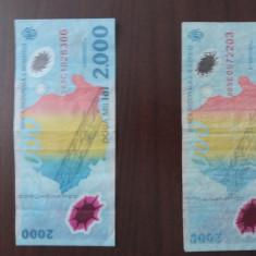 Bancnota 2000 lei cu eclipsa - Bancnota romaneasca