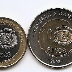 Republica Dominicana Set 4 - 1, 5, 10, 25 Pesos 2008 - UNC !!!, America de Nord