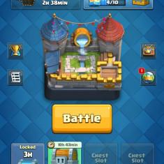 Cont clash royale arena 7 level 9 56 din 73 2985 monede 143 gemuri