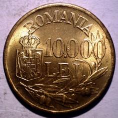 R.300 ROMANIA MIHAI I 10000 LEI 1947 XF/AUNC punct proeminent 10.000 - Moneda Romania, Alama