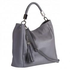 Brastini La Sara piele geanta pe umar gri - Geanta Dama