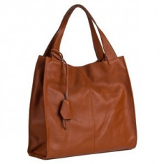 Brastini La Laura piele geanta pe umar maro natural - Geanta Dama