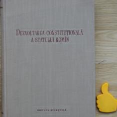 Dezvoltarea constitutionala a statului roman Dionisie Ionescu Gheorghe Tutui - Carte Drept constitutional