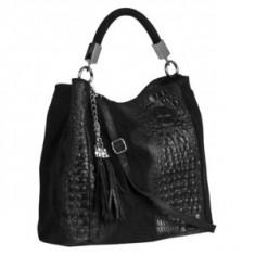 Brastini La Francesca piele geanta pe umar neagra - Geanta Dama