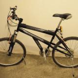 Bicicleta/Mountain Bike Downhill First Bike - pt. adulti (NECESITA REPARATII), 23 inch, 26 inch, Numar viteze: 21, Negru, Cu amortizor