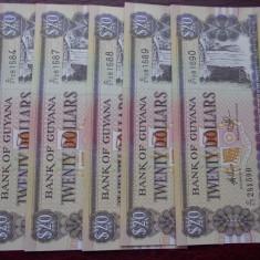 20 dolari British Guyana tip 1996-1999 UNC - bancnota america