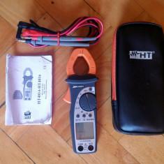 Cleste ampermetric (ditz clampmetru) HT4014 ohmmetru, voltmetru, frecventmetru - Multimetre
