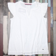 Bluza TOMMY HILFIGER - Bluze Dama, Femei - 100% AUTENTIC - Bluza dama Tommy Hilfiger, Marime: S, Culoare: Alb, Maneca scurta, Casual, Bumbac