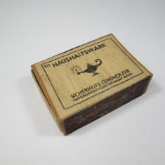 I Cutie de chibrite veche, lemn, germana, probabil ww2