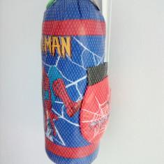 Sac de Box cu manusi Spiderman pentru copii - Saci box