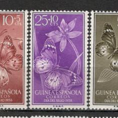 Guinea Spaniola. 1958 Ziua marcii postale-Fluturi  KY.189