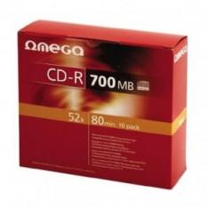 Mediu optic Omega CD-R 700MB 52x 10