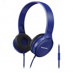 Casti Panasonic cu banda RP-HF100ME-A Microfon Albastru, Casti Over Ear, Cu fir, Mufa 3, 5mm