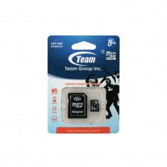 Card TeamGroup microSDHC 8GB Clasa 4 cu adaptor SD