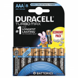 Baterie Duracell Turbo Max AAA LR03 8buc Negru - Baterie Aparat foto Duracell, Tip AAA (R3)
