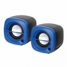 Sistem audio 2.0 Omega OG15BL 6W BLUE - Boxe PC