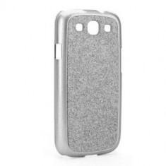 Husa Protectie Spate Xqisit iPlate Glamor argintie pentru Samsung Galaxy S3 - Husa Telefon