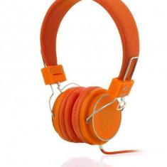 Casti Ibox D12 orange, Casti On Ear, Cu fir, Mufa 3, 5mm