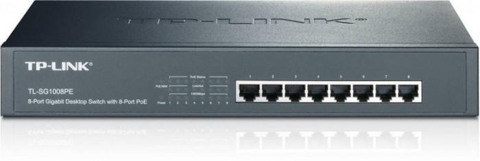 Switch TP-Link TL-SG1008PE 8 porturi foto mare