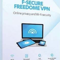 Antivirus F-Secure Freedome VPN 1 An 3 dispozitive