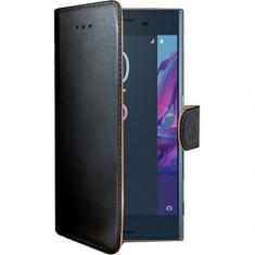 Husa Flip Cover Celly WALLY624 Agenda Negru pentru SONY Xperia XZ - Husa Telefon