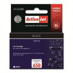 Consumabil ActiveJet Cartus compatibil HP 650 pentru HP CZ101AE negru - Cartus imprimanta