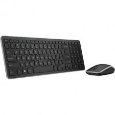 Kit tastatura si mouse Dell KM714 Wireless Black, Fara fir