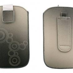 Toc OEM TLAPPIPH4GRI Lux gri pentru iPhone 4 / Samsung Ace / Nokia E5 - Husa Telefon