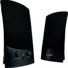 Sistem audio 2.0 Logic LS10 2W black - Boxe PC