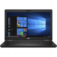 Laptop Dell Latitude 5580 15.6 inch Full HD Intel Core i7-7600U 8GB DDR4 256GB SSD nVidia GeForce 930MX Windows 10 Pro Black