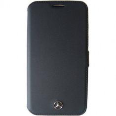 Husa Flip Cover Mercedes MEFLBKS6PLBK Agenda Pure Line Negru pentru SAMSUNG Galaxy S6