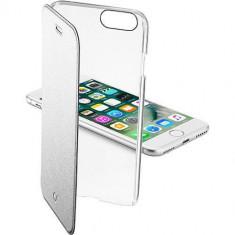 Husa Flip Cover Cellularline CLEARBOOKIPH747S Agenda Clear Argintiu pentru Apple iPhone 7 - Husa Telefon