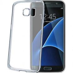 Husa Protectie Spate Celly BCLS7ESV Bumper Argintiu pentru Samsung Galaxy S7 Edge - Bumper Telefon