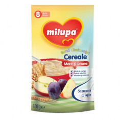 Cereale copii MILUPA Buna dimineata fara lapte mere si prune 180g de la 8 luni