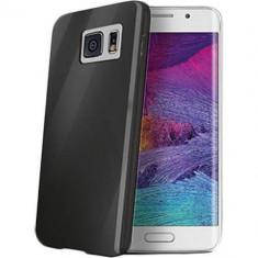 Husa Protectie Spate Celly GELSKIN491BK neagra pentru Samsung Galaxy S6 Edge - Husa Telefon Celly, Plastic, Carcasa