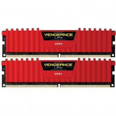 Memorie Corsair Vengeance LPX Red 8GB DDR4 2666 MHz CL16 Dual Channel Kit - Memorie RAM