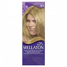 Vopsea par WELLATON 91 Blond cenusiu luminos - Vopsea de par, Permanenta