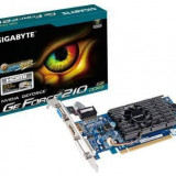 Placa video Gigabyte GeForce 210 1GB 64bit - Placa video PC Gigabyte, PCI Express