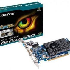 Placa video Gigabyte GeForce 210 1GB 64bit - Placa video PC Gigabyte, PCI Express, nVidia