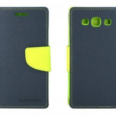 Husa Flip Cover Goospery YFSAMGS3AL My-Fancy albastru / lime pentru Samsung Galaxy S3 I9300 - Husa Telefon