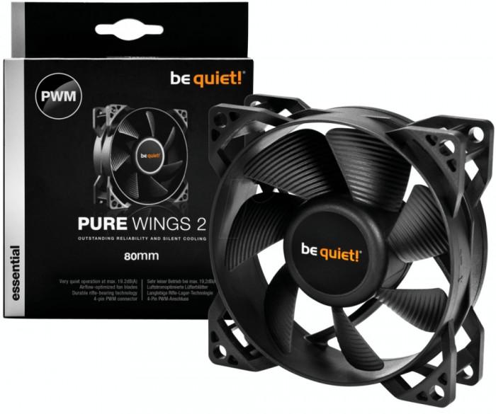 Ventilator Be quiet! Pure Wings 2 80mm foto mare